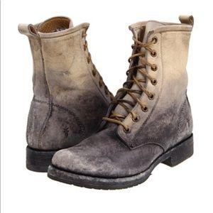 Frye Veronica Combat Boot, Stonewash, size 8